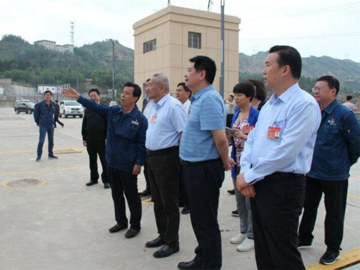 全国政协副主席、九三学社中央常务副主席邵鸿与苏华董事长等在甘肃临夏调研